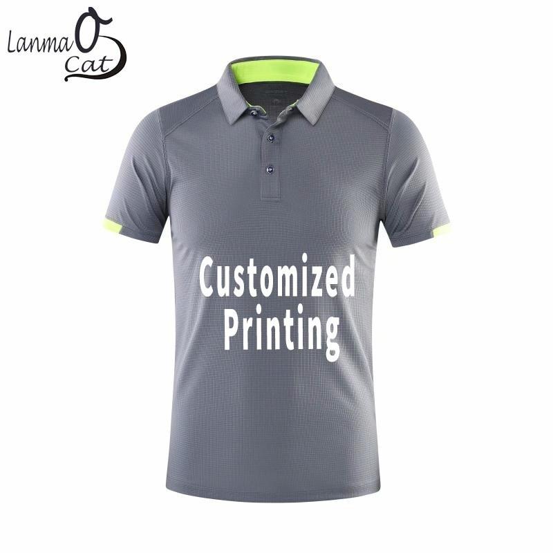 Lanmaocat Men's Sports   Polo   Shirts Golf   Polo   Shirts Clothing For Men Custom Brand Design Quick Dry Shirt With Logo Free Shipping