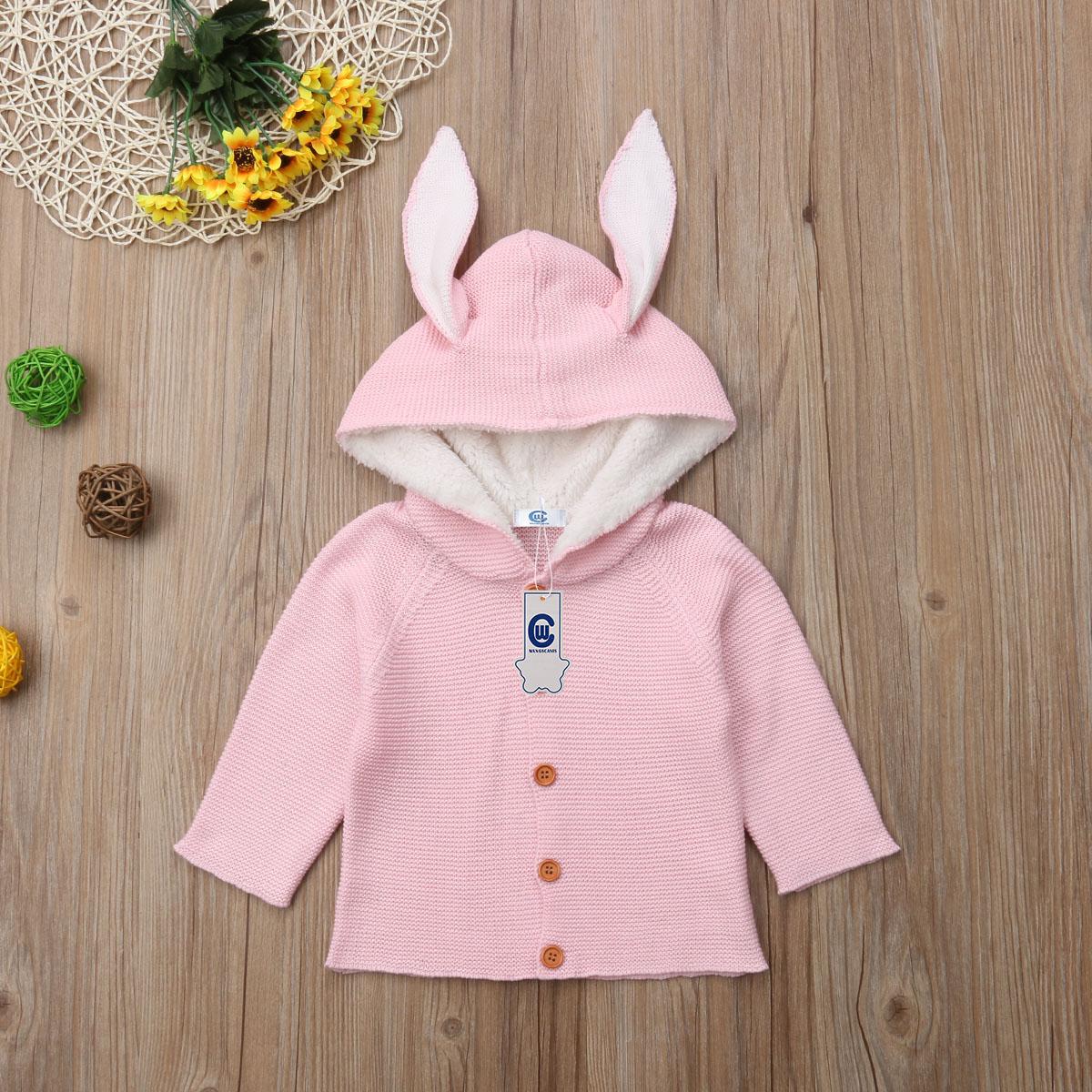UK Newborn Baby Boys Girls Warm Knitted Cardigan Coat Jacket Outwear Clothes