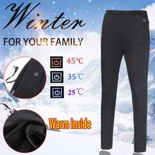 Womens Mens Winter Heated Thermal Trousers USB Intelligent 3Modes Adjustable Temperature Control Carbon Fiber Safety Clothing