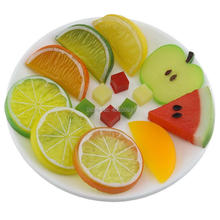 Gresorth Premium Artificial Fruit Slice Fake Lemon Apple Kiwi Watermelon Strawberry Cherries Home Decoration