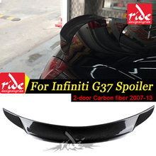For Infiniti G37 2-Door Sedan Rear Spoiler Wing Lip Decoration For G37 High-quality Carbon Fiber Rear Trunk Spoiler Wing 2007-13 стоимость