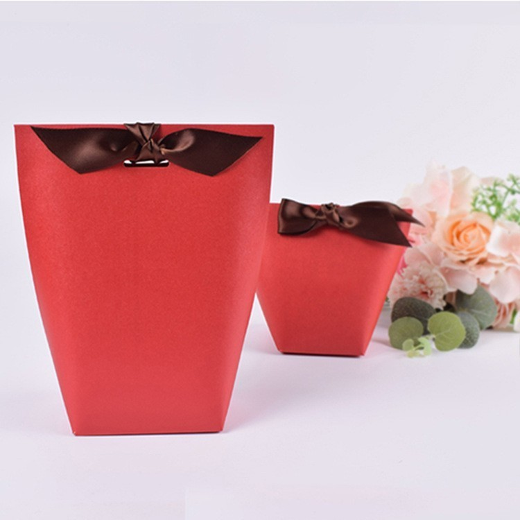 20 Pcs Small Paper Box With Ribbon Wedding Gift Bags Cookies Chocolate Candy Box Jewelry Gift Packaging Bag Party Favor Birthday in Gift Bags Wrapping Supplies from Home Garden