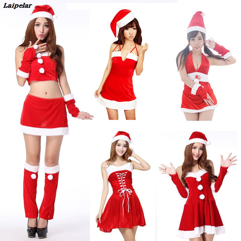 Women Sexy santa costumes christmas dress Cosplay for woman fancy dress costume Halloween Adult Santa Clause Xmas 5 styles in Holidays Costumes from Novelty Special Use