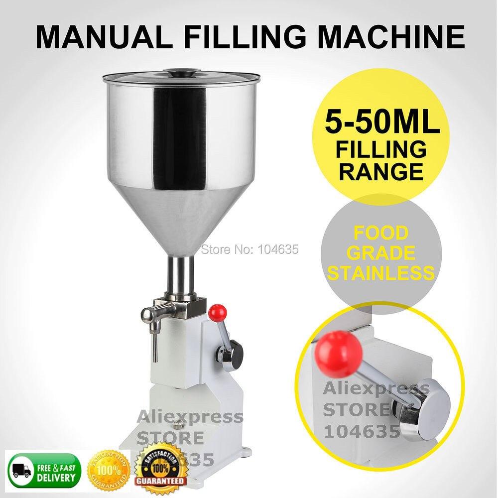 Remplisseuse Liquide 1-50ML Manual Liquid Filling Machine Paste Filling Machine  Cream Shampoo Cosmetic Capsule Filling Machine