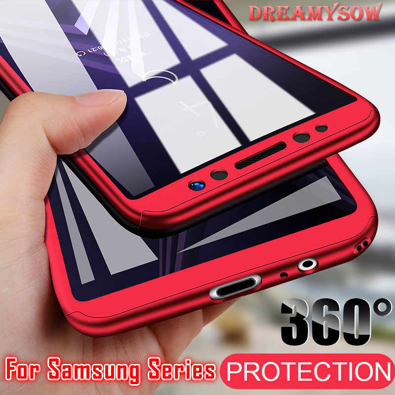 360 Full Protection Cover Case For Samsung Galaxy A50 A30 M20 A8 A6 J4 J6 Plus A750 2018 S9 S8 S10 Plus S7 Edge Note 9 8 Covers