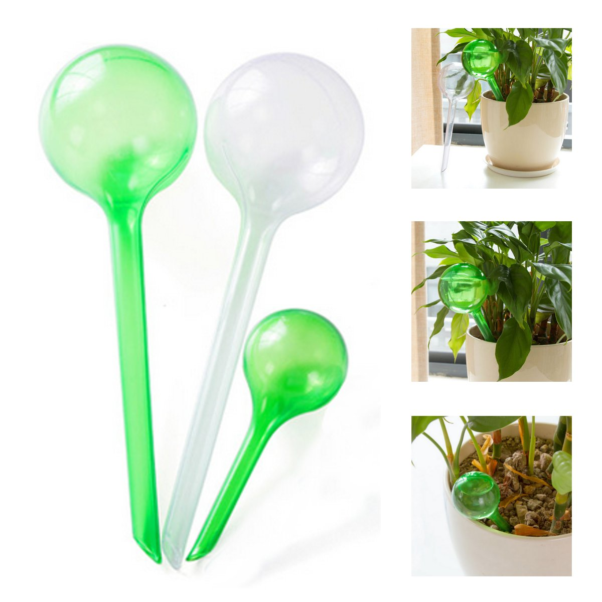 Portable Flower Automatic Watering Device Houseplant Plant Pot Bulb Globe Watering Device Garden House Waterer Water Cans 2 Size image