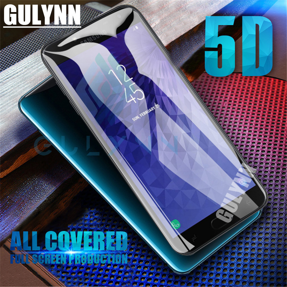 5D Curved Edge Tempered Glass For Samsung Galaxy J2 J3 J4 J5 J6 J7 J8 Prime Pro HD Screen Protector Film For A6 A8 Plus 2018
