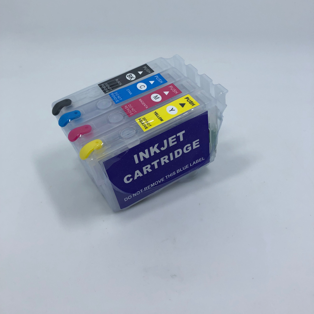 YOTAT Refillable Ink Cartridge T1711 T1712 T1713 T1714 For Epson XP-306 XP-406 XP-407 XP-207 XP-303 XP-313 XP-413 XP-323 XP-423