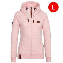 Female's Hiking Sport Jacket Leisure Pure Color Stylish Comfortable Loose Sweatshirt Soft Smooth Fashion Clothing Autumn Winter