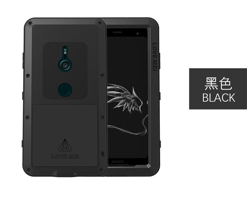 Pour Sony XZ3 armure métal boîtier antichoc pour SONY Xperia XZ3 aluminium vie couverture étanche pour Sony XZ3 Xperia XZ 3 coques de téléphone