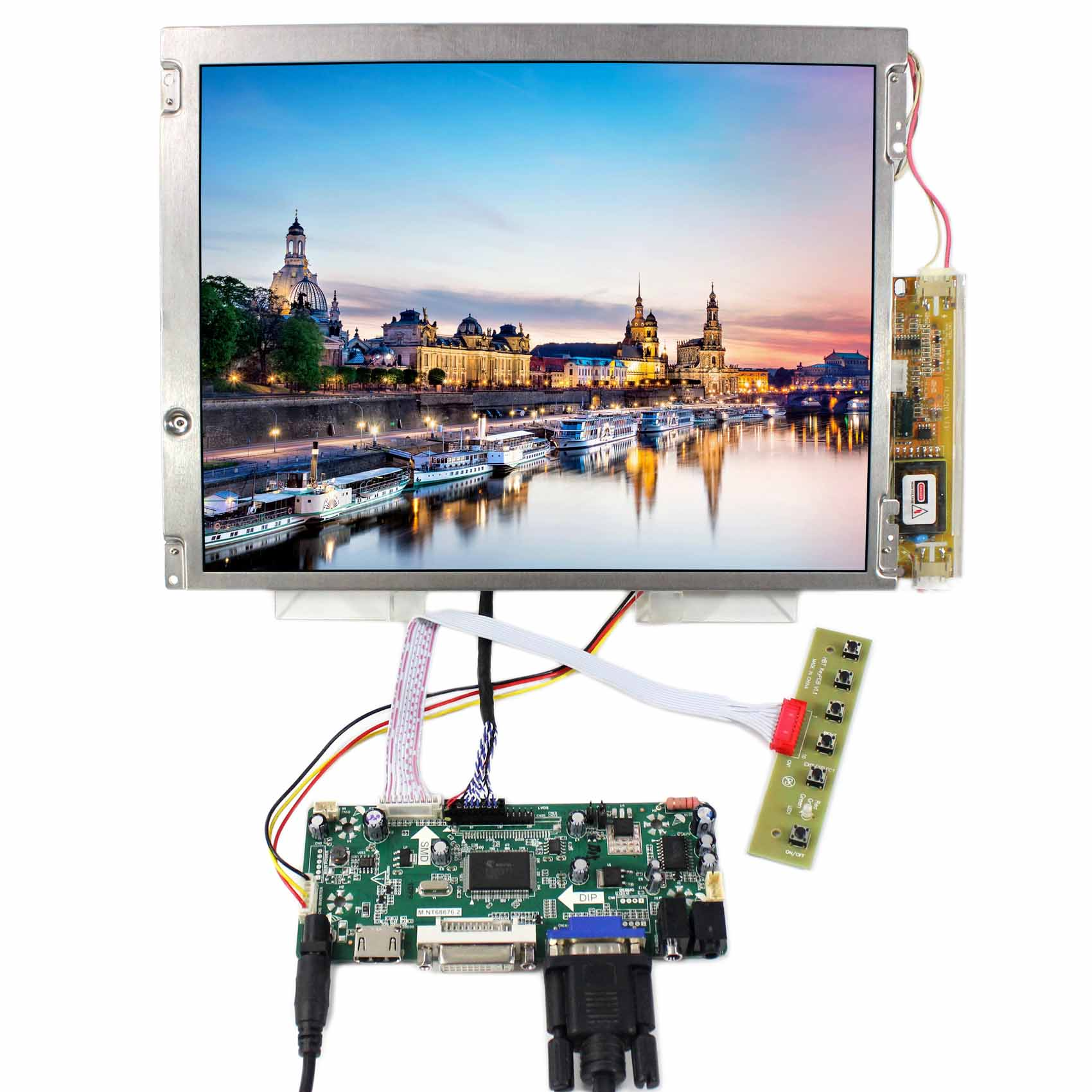 800X600 Resolution 12.1inch LQ121S1LG45 LCD Screen Backlight 2 CCFL M.NT68676  HDMI DVI VGA Board800X600 Resolution 12.1inch LQ121S1LG45 LCD Screen Backlight 2 CCFL M.NT68676  HDMI DVI VGA Board