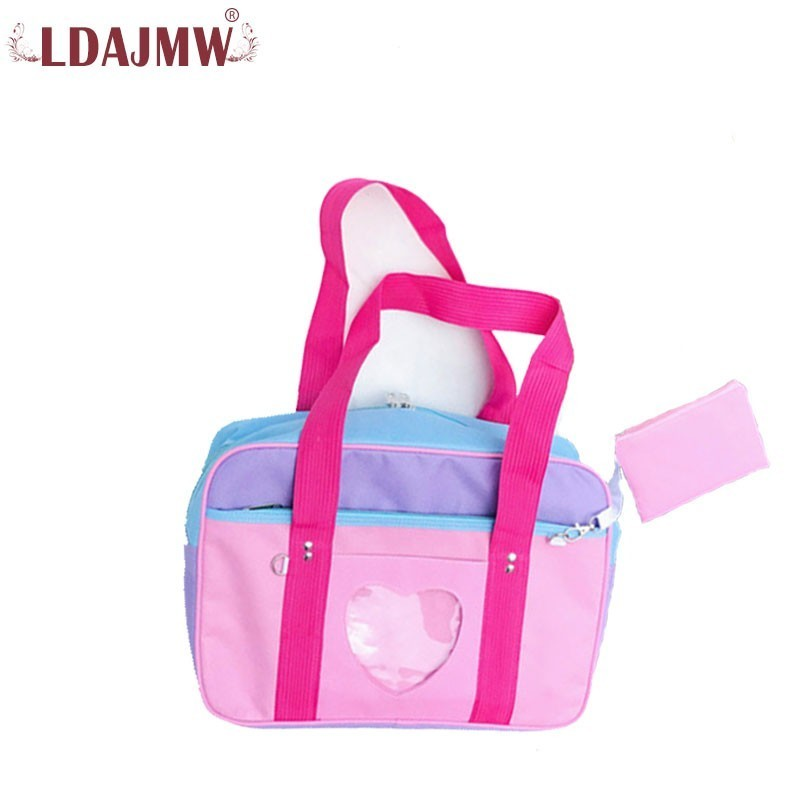 Solid Color Campus Wind Ladies Love Waterproof Nylon Travel Bag Ultra Light Large Capacity Vitality Ladies Handbag