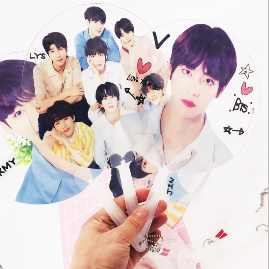 Jewelry Findings & Components Kpop Nct Bts Exo Got7 Wanna One Mini Pvc Transparent Hand Holder Fan Summer Cute Gift