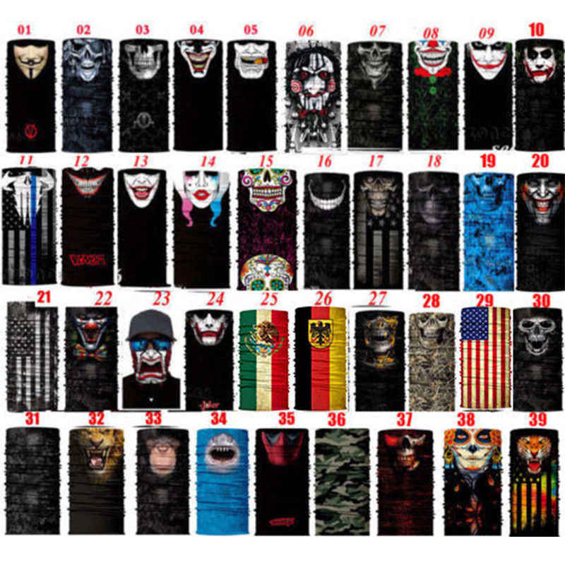 3D New Fashion Face Shield Sun Mask Neck Gaiter Balaclava Bike Scarf Headwear Bts Mask Unisex Fashion Mask
