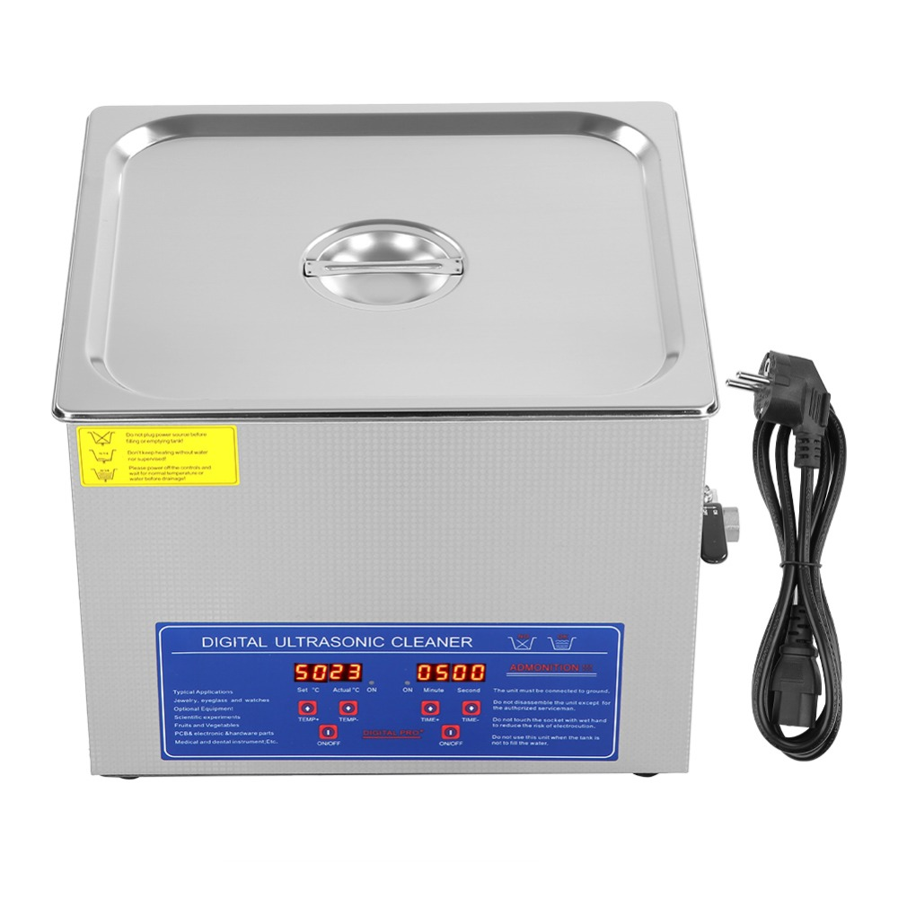 Ultrasonic-Cleaner Cleaning-Machine Stainless-Steel Bath-Timer Digital 220V 15L Local