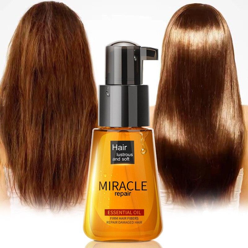 Aceite de argán milagroso de 70ml acondicionador para el cabello cuidado de la esencia reparación nutritiva dañado mejora el tratamiento del cabello dividido aceite esencial TSLM1 Tratamientos de cuero cabelludo y cabello    - AliExpress