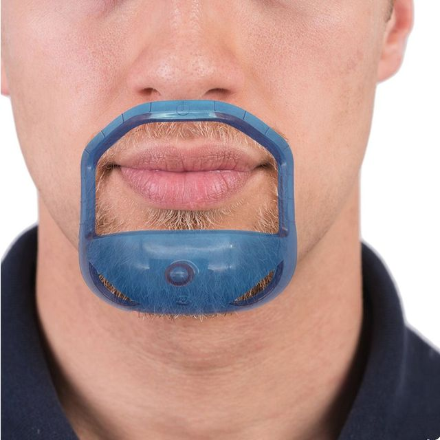 5 unids/lote barba peine cepillo simétrica corte salón bigote barba estilo de plantilla para conformación barba herramienta