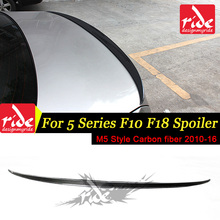 F10 Rear Spoiler Wing M5 Style For BMW F18 520i 525i 528i 530i Carbon Fiber Trunk Tail Car Styling 2010-16