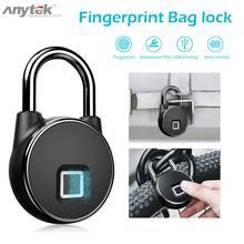 Anytek P22 Умный Замок без ключа для отпечатков пальцев IP66 Противоугонный замок безопасности полупроводниковый технология распознавания отпечатков пальцев