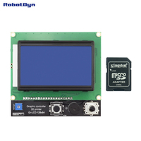 3D printer display Smart Controller RAMPS 1.4  Graphic LCD 128x64  SD and MicroSD-card reader