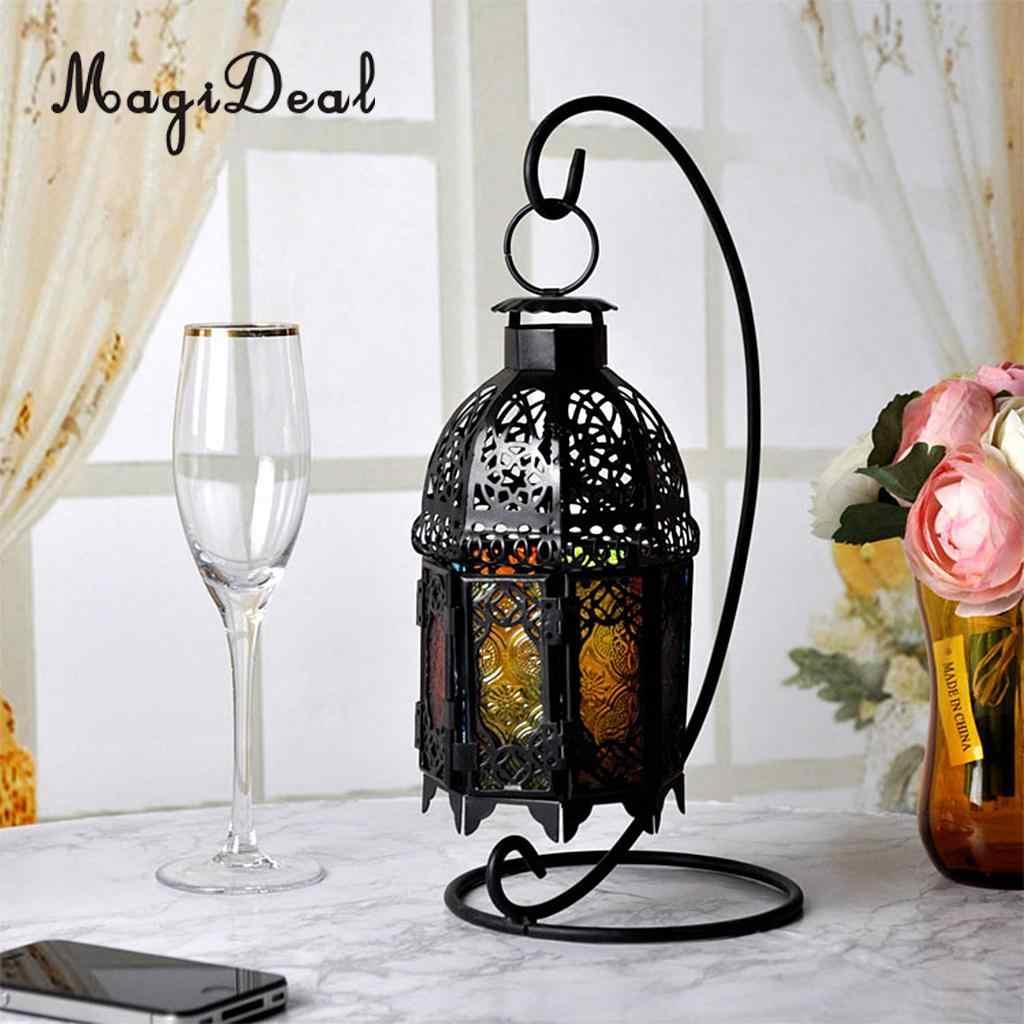 MagiDeal עלוב שיק מרוקאי פמוט בית תפאורה פאב בר קפה שולחן Centrepiece חתונת דקור
