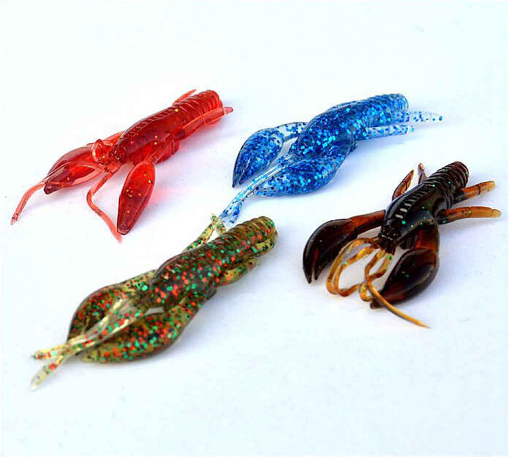 7cm Soft Plastic Lobster Craw Ned Rig Bass Fishing Bait For All Freshwater  Fish Holiday DIY Decorations