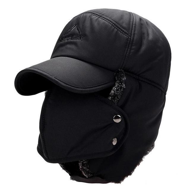 Хлопковая теплая кепка зимняя Уличная Повседневная съемная маска для лица теплая Кепка наушники спортивные путешествия унисекс буквы Регулируемый Подбородочный ремешок