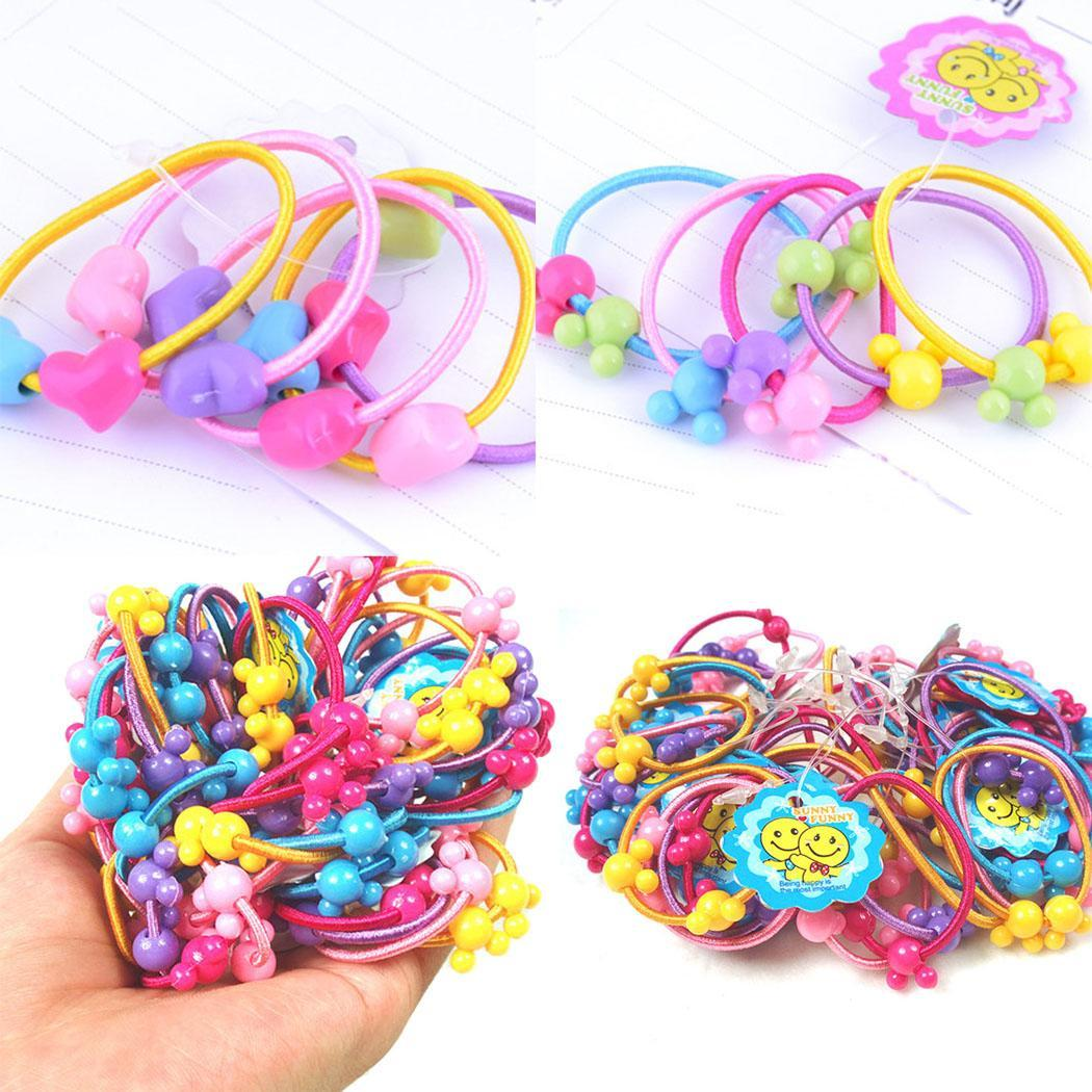 Children Girl Women Ponytail Holder Band Floral Elastic Rubber Band Hair Ties Elegant And Sturdy Package Men's Headbands