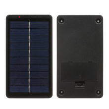 2W/5V Portable Solar Charger Rechargeable Battery With USB Port For Cellphone Tablet Power Bank Charger Compact Solar Panel(China)