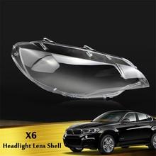 Left /Right Side Front Headlight Cover Plastic Clear Transparent Housing Lens Shell Lampshade for BMW X6 E71 2008-2014 цена в Москве и Питере