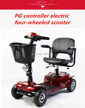 2019 Fashion Elderly scooter four-wheeled disabled battery car for the elderly to help electric wheelchair