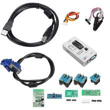 RT809F ecran LCD EPROM FLASH VGA fai AVR programmeur pince + 7 prise adaptateur programmeur informatique industriel accessoires Kit