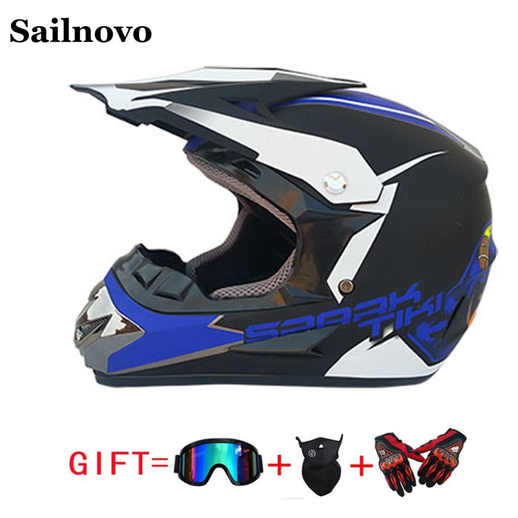 Vtt course vélo moto hors route casque confortable respirant moto casque vélo Capacete avec lunettes masque facial gants
