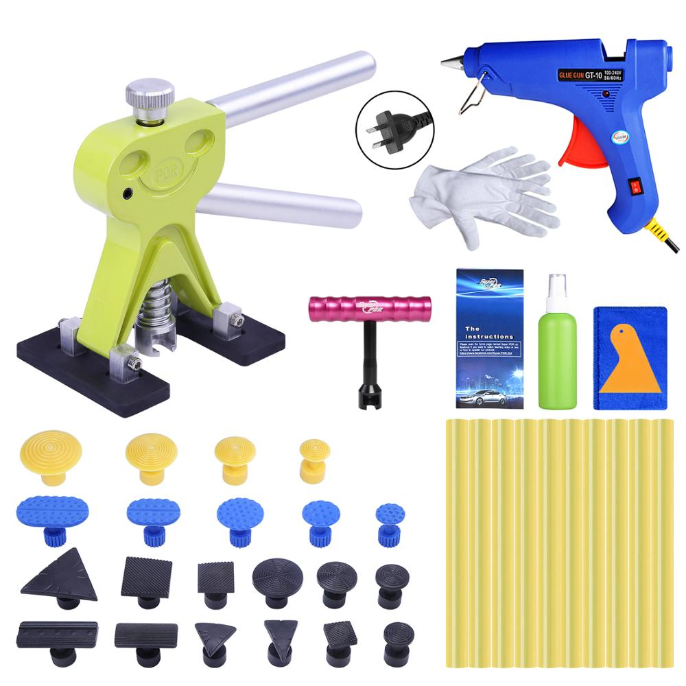 цена на Super PDR AU Plug Hot Melt Glue Gun For Hot Adhesive Glue Sticks Paintless Dent Repair Tools Auto Dent Pullers Suction Cup Sets