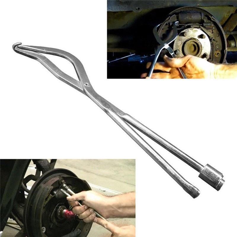 1X Chrome Plated Brake Spring Plier Car Repair Brake Plier Garage Workshop Tools