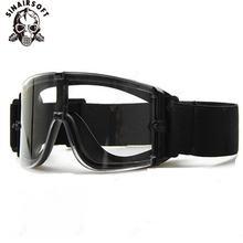 Usmc страйкбол x800 охотничьи военные очки тактические защита