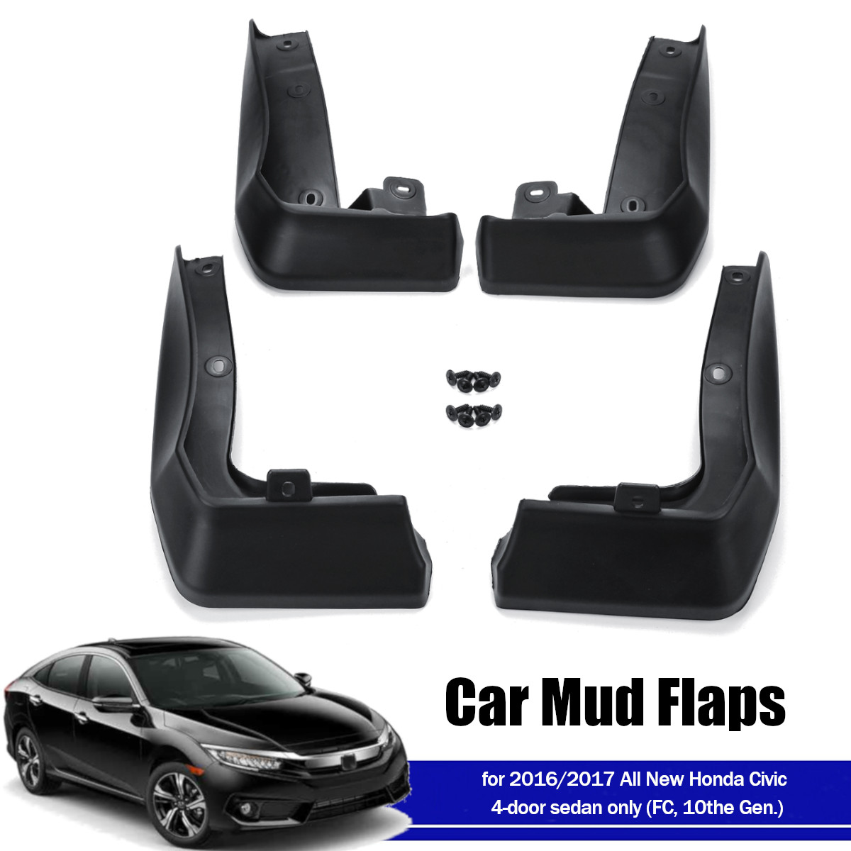CIVIC SPORT SPORT TOURING HATCH 5 DOOR SPLASH GUARD SET 08P00-TGG-100A