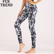 Print Sport Yoga Pants Women Fitness Sport Leggings Reflective Strip High Waist Yoga Leggings Training Running Pants Sports Wear цены