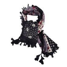 Scarf Woman, Large Tartan Shawl Fashion Female Stole Plaid Woolen Fabric Tassels