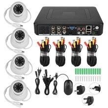 5 в 1 720 P 4CH коаксиальное наблюдение AHD видеокамера охранной системы комплект HD 100 W пикселей высокое разрешение