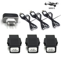 3 In 1 Multifunctional Battery Charger 7.4V 1100mA Quadcopter Battery Adapter for SG900 S Drone Accessories Drop Shipping