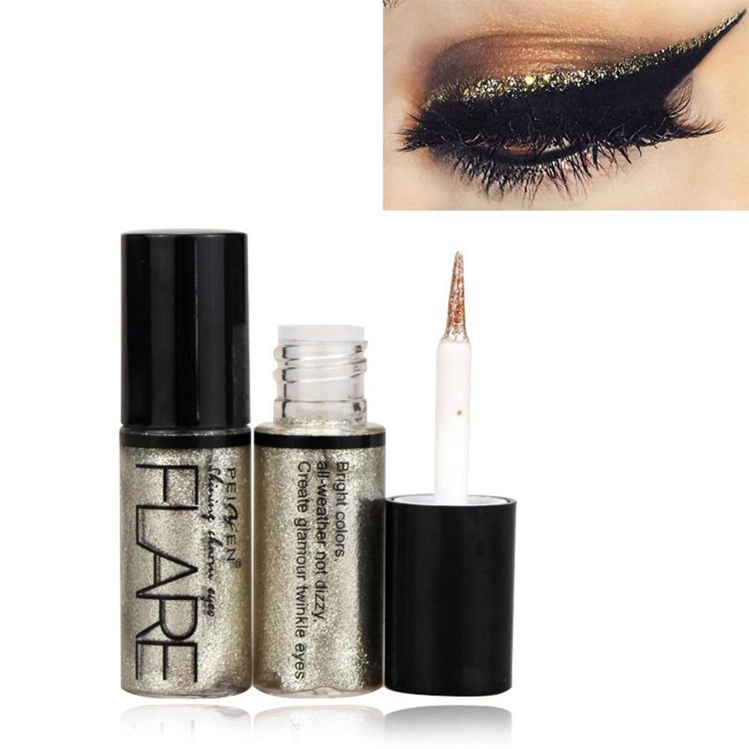 76e35e3ce64 5 Colors Glitter Eyeshadow For Easy to Wear Waterproof Liquid Eyeliner