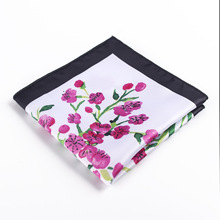 Mantieqingway 1pcs Men Stylish Polyester printing Handkerchief Casual Suit Accessories Wedding Pocket Towel Small Square
