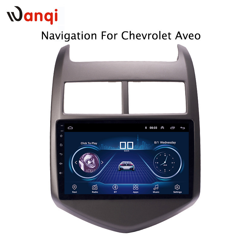 9 inch android 8 1 car dvd multimedia gps navigation system for Chevrolet Aveo Sonic 2011