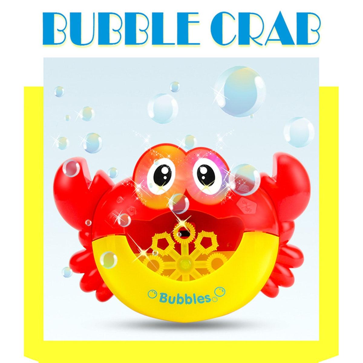 Kids Toys Crab Music Bubble Machine Blowing Bubbles Machine For Soap Bubble Baby Bath Toy Outdoor Bubble Maker Children Gift
