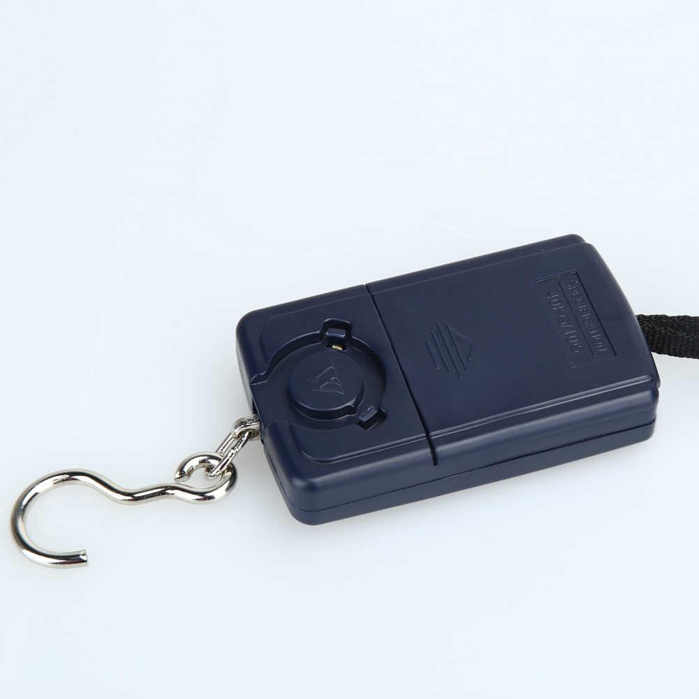 40 кг x 10 г Мини цифровые весы для рыбалки багажа Путешествия Взвешивание Steelyard Висячие Электронные весы с крючком кухонный инструмент для взвешивания