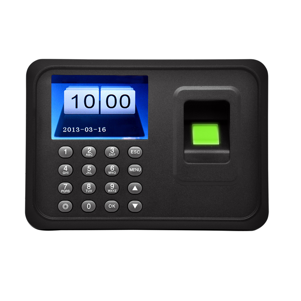"2.4"" TFT LCD Display USB Biometric Fingerprint Attendance Machine DC 5V/1A Time Clock Recorder Employee Checking-in Reader A"