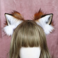 New Hand Work Animal Ears Hair Hoop red Fox Ears Headwear hair accessories for girl women LOL cosplay