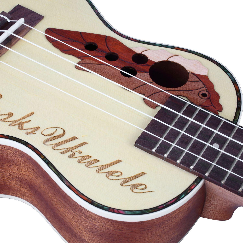 BURKS ukulélé épicéa Concert ukulélé guitare 4 cordes hawaïenne guitare Instruments de musique - 5