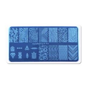Image 3 - Beautybigbang Nail Stamping Plates Stainless Steel Strip Skull Flower Image Stamp Nail Art Carimbo De Unha Stamping Nail Art